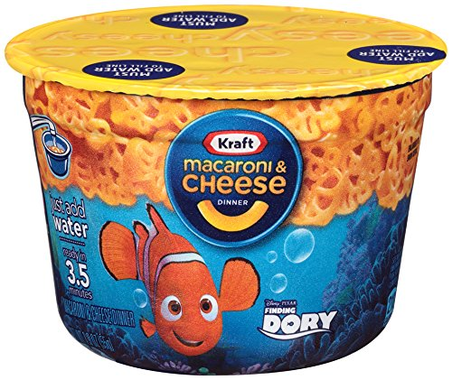 Kraft Macaroni & Cheese Dinner Movie Shapes, Single Serve Cup, 1.9 Ounce (Pack of 10) (Mac And Cheese Single Servings compare prices)