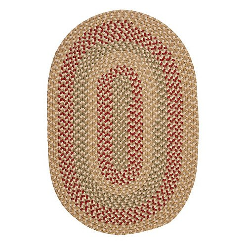 Brook Farm Polypropylene Braided Rug, 8-Feet by 11-Feet, Tea Stained