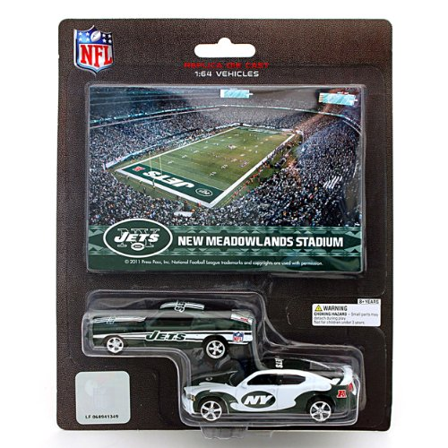 NFL New York Jets Ford Mustang and Dodge Charger 1:64 Scale Diecast Cars at Amazon.com