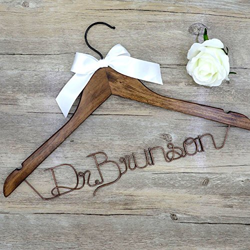 Handmade DIY Wedding Custom Bridal Hanger, Personalized Hanger