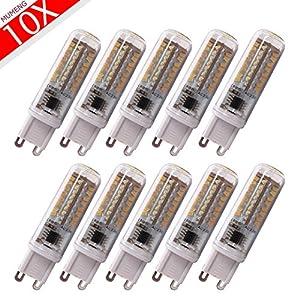 10x G9 LED Light bulb 6W Warm white,70X3014 SMD LEDs AC200-240V 570lumens from MUMENG