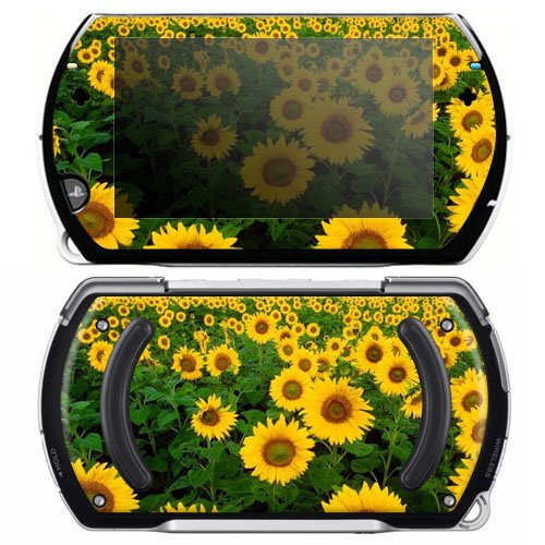 Sun Flowers Decorative Protector Skin Decal Sticker for Sony Playstation PSP Go System