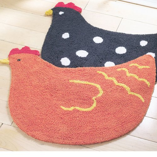 Vintage Hen Double-Sided Cotton Rug