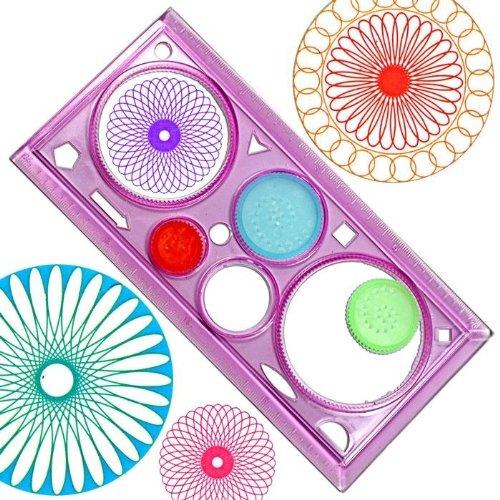 Mandala Schablone mit 3 Rädern, tolle Mandalas selber machen, Malschablone Kinder