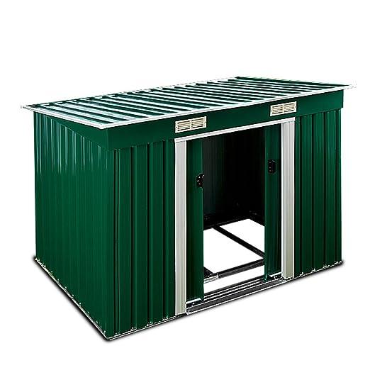 ger tehaus metall 196x122x180 cm mit schiebet ren und fundament. Black Bedroom Furniture Sets. Home Design Ideas