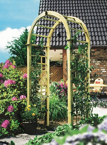 NEW! ROSE ARCH trellis arbor tall for flowers wooden