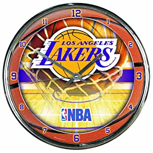 NBA Los Angeles Lakers Chrome Clock by WinCraft