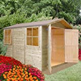 10FT x 7FT STOWE TONGUE & GROOVE GARDEN SHED / WORKSHOP