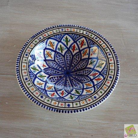 6 assiettes Tebsi Jileni bleu - D 23 cm
