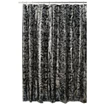 InterDesign Design Crosshatch Eva Shower Curtain Black/Silver 72 Inch X 72 Inch