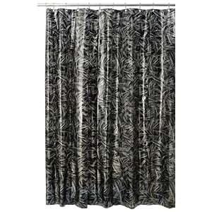 Interdesign Design Crosshatch Eva Shower Curtain Black Silver 72 Inch X 72 Inch