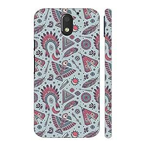 Enthopia Designer Hardshell Case Red Indian Back Cover for Motorola Moto E3 Power