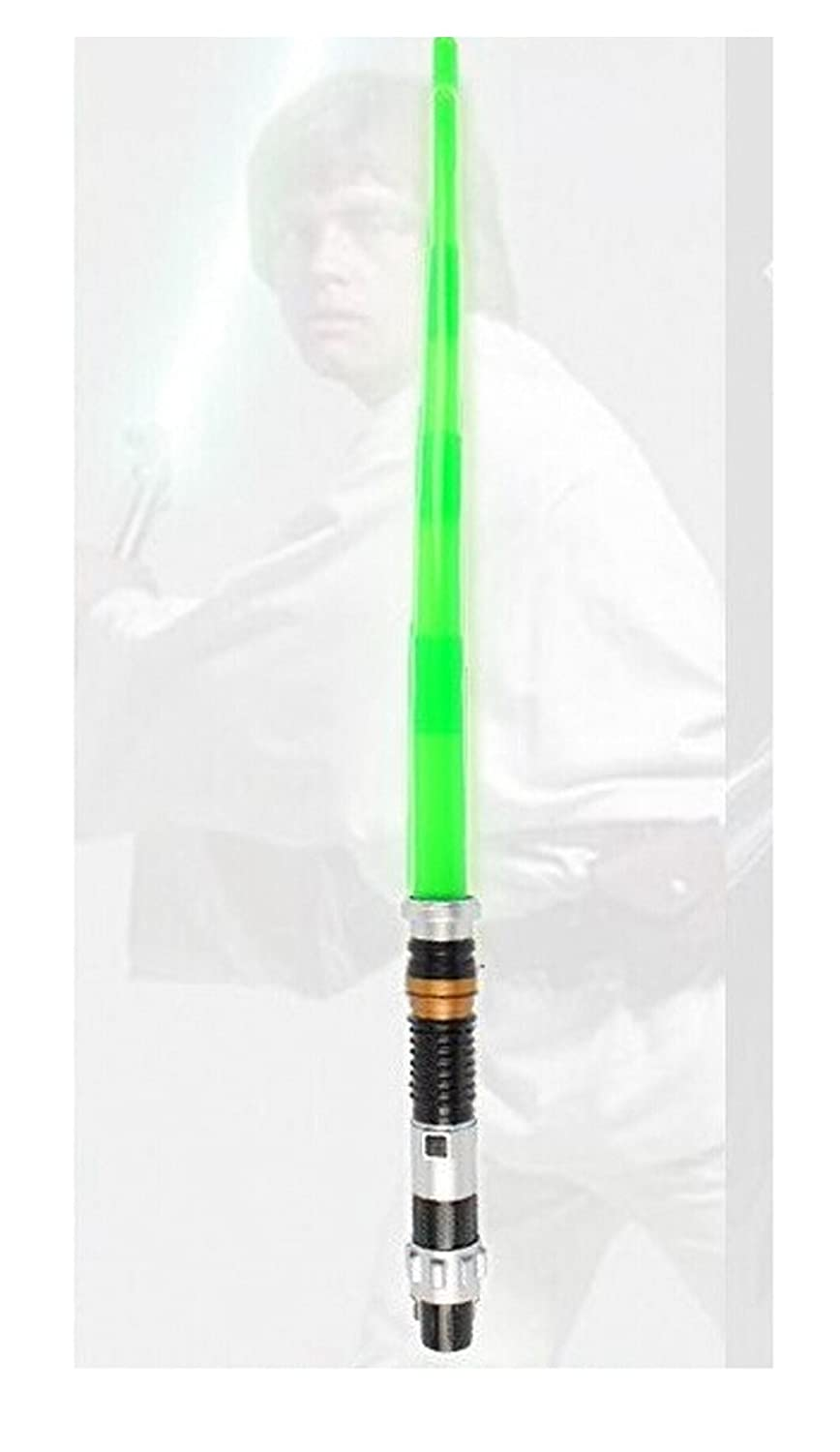 HOLLY Star Wars LightSaber with LED Light & Sound Flashing Light Up Laser Skywalker Lightsaber Sabre Sword Toy-Green