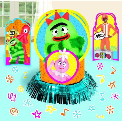 "Hip and Hop Yo Gabba Table Decorating Kit Birthday Party Decorations, 12-1/2"", Multi"