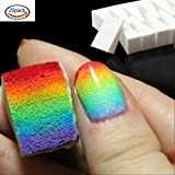 20 Pcs Nail Art Sponge Stamp Stamping Polish Template Transfer Manicure DIY Tool (Color: White)