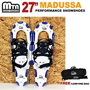 New MTN Snowshoes Man Woman Kid Youth 27 BLUE Snowshoes WD Free Carrying Tote Bag by MTN Snowshoes