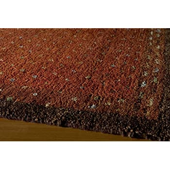 Momeni Rugs DEGABDG-01PAP7696 Desert Gabbeh Collection, 100% Wool Hand Knotted Contemporary Area Rug, 76