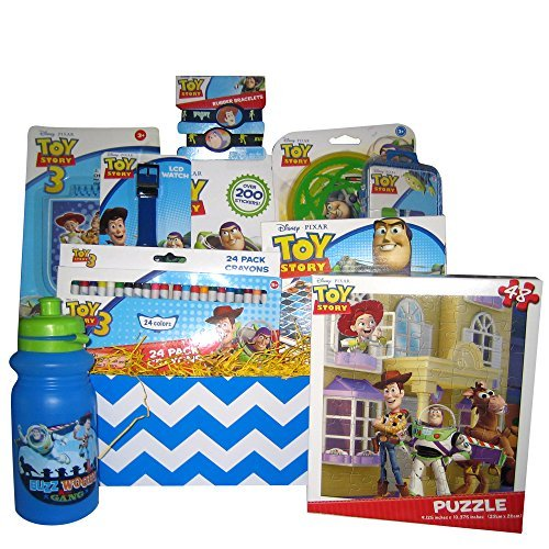 Toy Story Art Activities Gift Basket, Great Get Well, Birthday Gift Baskest for Boys and Girls 3 and Up. (Toy Story Easter Basket compare prices)