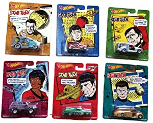 Star Trek Hot Wheels Pop Culture Set Of 6
