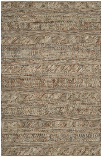 8' x 10' Desert Winds Beige, Blue and Cream Braided Texture Wool Area Throw Rug