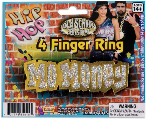 Hip Hop Mo Money 4-Finger Ring (Gold;One Size)