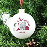 Personalised Me to You My 1st Christmas Bauble, Tree Decorations, Baby's First Christmas Present