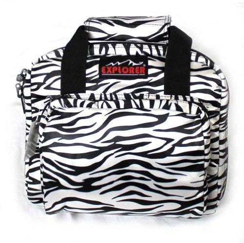 """Review Of 11"""" Ladies Zebra Soft Padded Pistol Range Bag Hand Gun Case"""