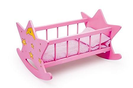 Berceau de poupée - rose - étoile