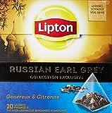 Lipton Thé Russian Earl Grey 20 sachets - Lot de 3