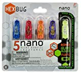 HEXBUG Nano Newton Gravity 5-Micro Robotic Creature Pack (4 Color Nano + 1 Glow in the Dark Nano)