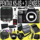 Pentax K-5 IIs Digital SLR Camera + SMC DA 18-135mm f/3.5-5.6 ED AL [IF] DC Weather Resistant + Two D-LI90 Replacement Lithium Ion Battery + External Rapid Charger + 64GB SDHC Class 10 Memory Card + 62mm Wide Angle Lens + 62mm 2x Telephoto Lens + 62mm 3 Piece Filter Kit + Mini HDMI Cable + Carrying Case + Full Size Tripod + External Flash + Multi Card USB Reader + Memory Card Wallet + Deluxe Starter Kit DavisMax Bundle