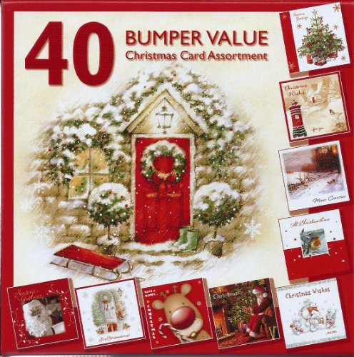 Christmas Cards - Bumper Box of 40 -  Assorted Xmas Card Designs