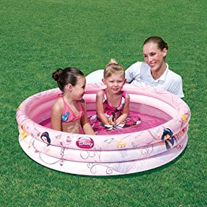 Disney Princess Inflatable 3 Ring Swimming Swim Paddling Pool 3+