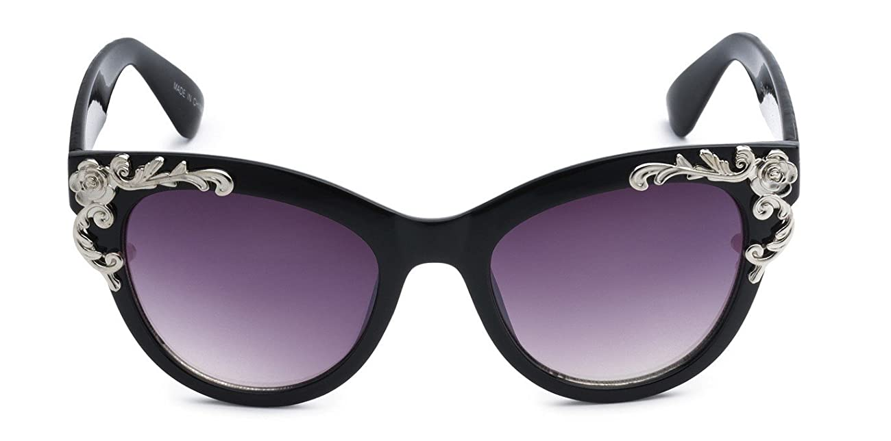 Eason Eyewear Women's Decorated Cat Eye Sunglasses 0