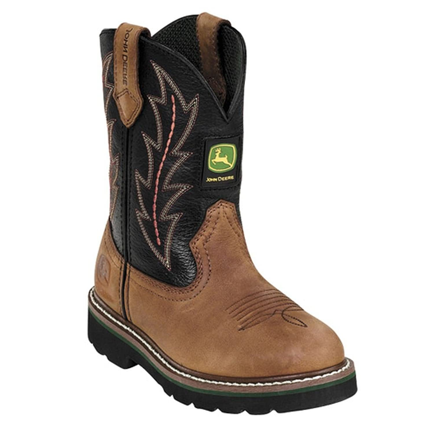 John Deere 1190 Western Boot (Toddler): Toddler Work Boots For Boys