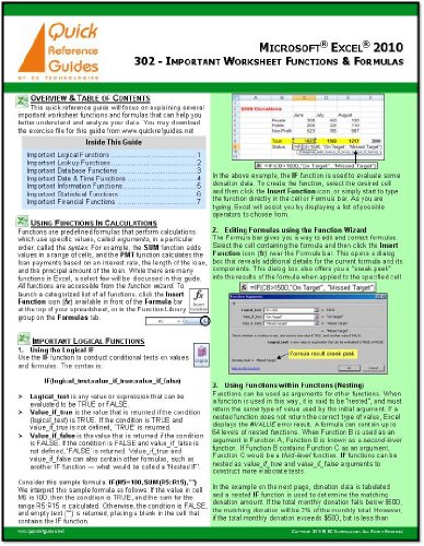 Cheat Sheet Template Excel