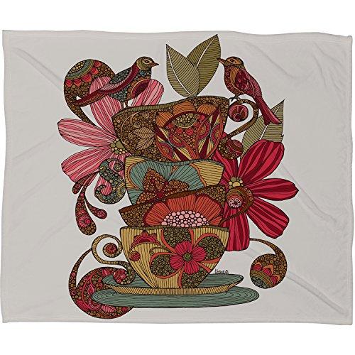 "DENY Designs Valentina Ramos Fleece Throw Blanket, Good Morning Birds, Large 80"" X 60"""