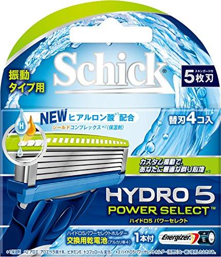 ハイドロ5パワーセレクト替刃 4コ入