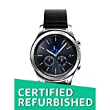 Samsung Gear S3 Classic Smartwatch (Bluetooth), SM-R770NZSAXAR US Version with Warranty (Renewed) (Color: S3 Classic Black Leather Band)
