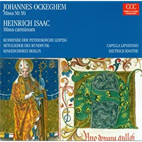 Ockeghem, J.: Missa Mi Mi / Isaac, H.: Missa Carminum (Knothe)