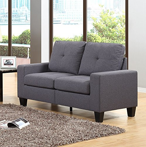 Fernanda Grey Fabric Sofa And Loveseat