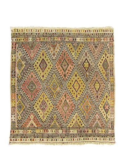 BNomadic C. 1940 Authentic Konya Jajim One-of-a-Kind Rug, Multi, 4′ 5″ x 4′ 10″