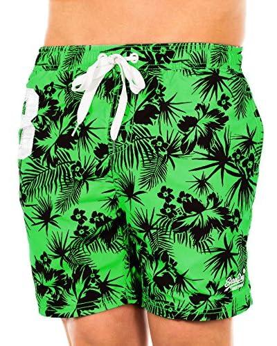 Superdry Shorts da Bagno [Verde/Nero]