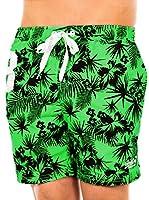 Superdry Short de Baño (Verde / Negro)