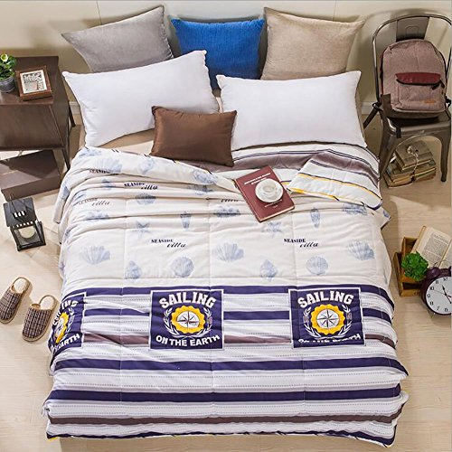 For Sale! Home Comfortable 100% Cotton Comforter for Summer Air-Conditioning Quilt 1PC (60 x 78, B...