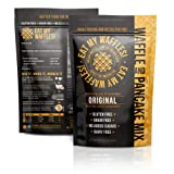 Eat My Waffles - Gluten Free, Dairy Free, Grain-Free and Paleo-Friendly | Waffle Mix made with Almond Flour, 8 Whole Ingredients and with Zero Added Sugars or Additives - 12.8 oz Bag (Color: 1 Pack, Tamaño: 12.8 Ounces)