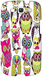 Timpax Protective Hard Back Case Cover Full access to all features. ports of the device including microphone, speaker, camera and all buttons. Printed Design : A gang of owls.Specifically Design For : Samsung I9300 Galaxy S III ( S3 )