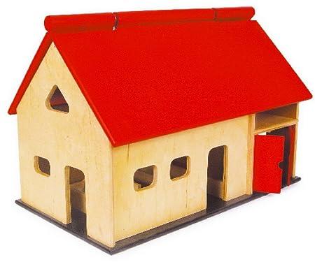 Jouetprive-Maison de poupée de la ferme en bois Arthur