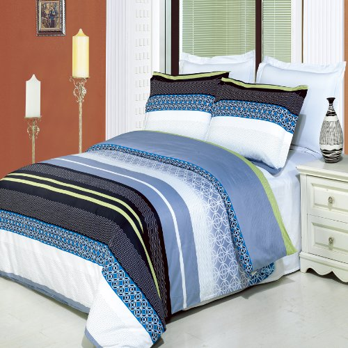 Grey And Turquoise Bedding 9148 back