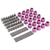 90Pcs/Set Plasma Cutter Torch Consumables Electrode Nozzles Cups Kit,Galvanized Copper,Ceramic (Color: popular, Tamaño: normal)